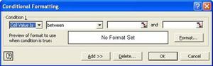 Conditional Format Dialog Box