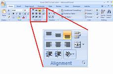 screenshot_home ribbon_text_alignment