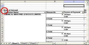 Select Entire Pivot Table