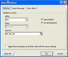 data valiidation - set the limit