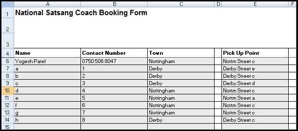 master list basic data