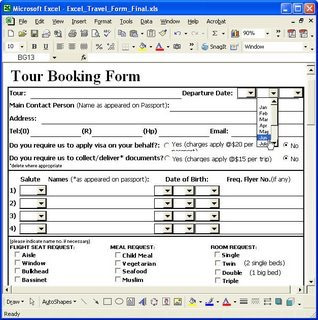professional excel form