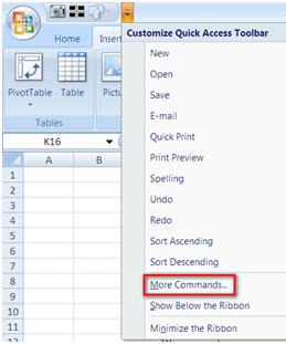 Toolbar more command